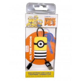 Câble USB / Lightning en Porte Clès Minions Tom TRIBE - 22cm (MFi)