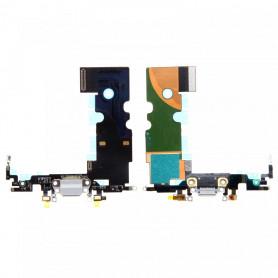 Connecteur De Charge iPhone 8 Blanc + Prise Jack + Antenne De GSM + Micro