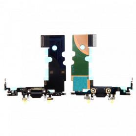 Connecteur De Charge iPhone 8 Noir + Prise Jack + Antenne De GSM + Micro