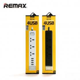 Charger Plug Cable power strip 3 socket 4 USB Port Hub EU Standard - Remax RU-S2