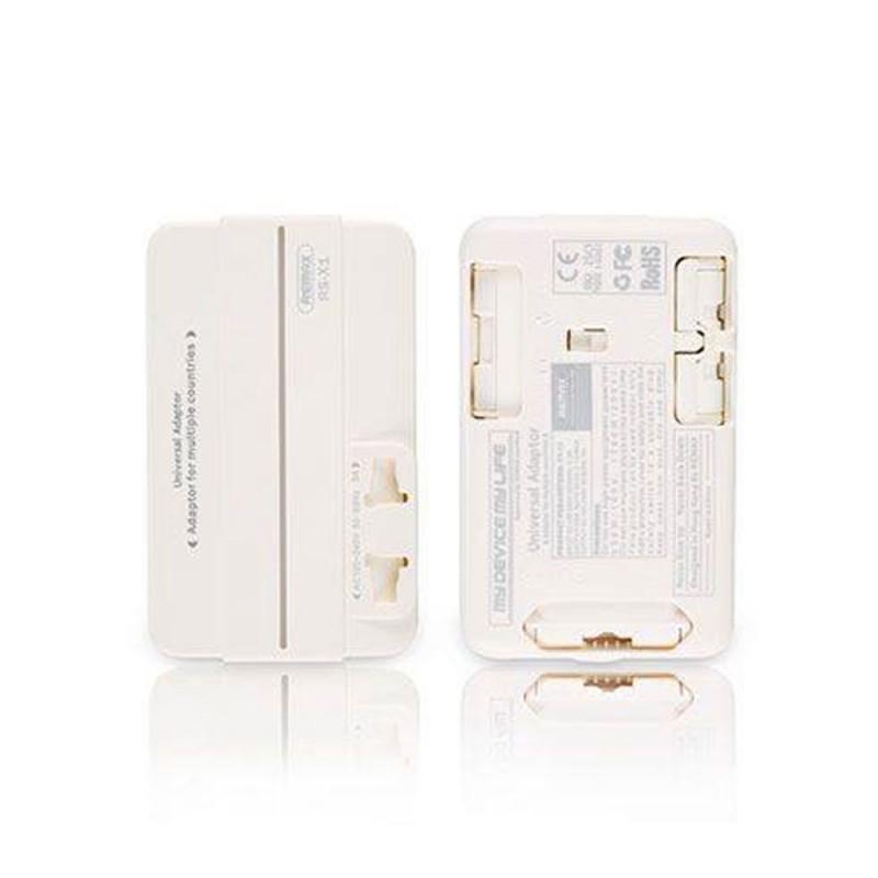 Chargeur de Voyage Adaptateur Double USB 5V 2.1A Mur AC Plug Power Universal EU/US/AU/UK - REMAX RS-X1