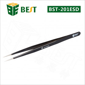 Pincettes long  brucelle de precision En Acier Inoxydables  - Outils Pour Réparation de téléphones mobiles