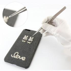 Professionnel brucelles de réparation de téléphone portable électrique Precision en acier inoxydable brucelles