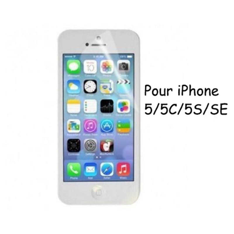 Lots 4X Film Protection PLASTIQUE iPhone 5/5S/5C/SE + Lingettes
