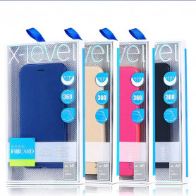 Coque de Protection Porte-cartes En Cuir Flip Pour iPhone Samsung - Fibcard Series