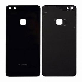 Vitre arrière Huawei P10 Lite Noir - Avec logo + Adhésif