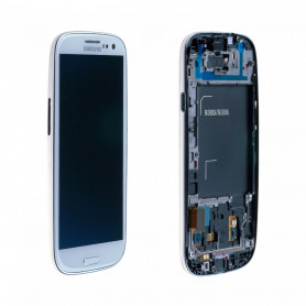 Écran complet Samsung Galaxy S3 Neo (i9301i) Blanc LCD+ Vitre Tactile Sur Chassis Original