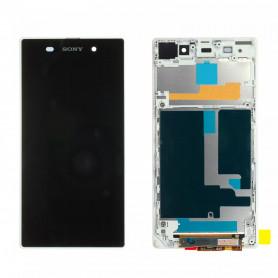 Écran complet Sony Xperia Z1 (C6903) Blanc LCD+ Vitre Tactile Sur Chassis