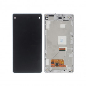 Écran complet Sony Xperia Z1 Compact (D5503) Blanc LCD+ Vitre Tactile Sur Chassis