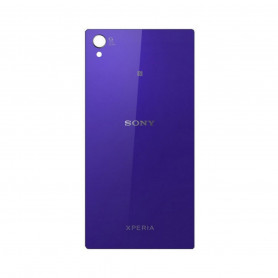 Vitre arrière Sony Xperia Z1 C6903 Purple Avec logo + Adhesif