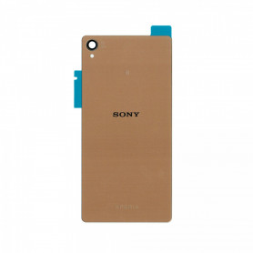 Vitre arrière Sony Xperia Z3 (D6603) Or - Avec logo + Adhesif