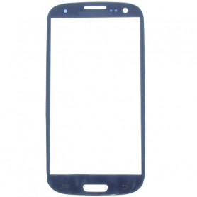 Vitre bleue + Stickers - Samsung Galaxy S3