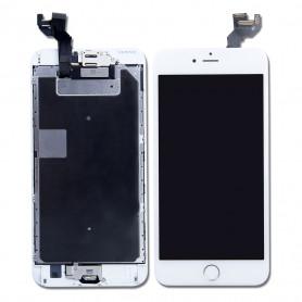 Ecran Complet iPhone 6S Plus Blanc Prémonté avec Vitre Tactile + LCD + Caméra avant + Bouton Home-GRADE AAA (Compatible complet)