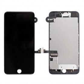 Ecran Complet iPhone 7 Plus Noir Prémonté avec Vitre Tactile + LCD + Caméra avant + Bouton Home- GRADE AAA (Compatible complet)
