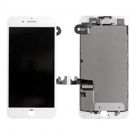 Ecran Complet iPhone 7 Plus Blanc Prémonté avec Vitre Tactile + LCD + Caméra avant + Bouton Home- GRADE AAA (Compatible complet)
