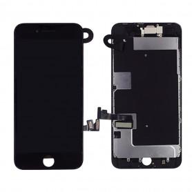 Ecran Complet iPhone 8 Noir Prémonté avec Caméra avant + Ecouteur Interne (Compatible complet)