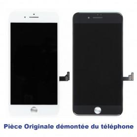 Ecran iPhone 7 Noir/Blanc Démonté du Téléphone - LCD RETINA ORIGINAL + Vitre Tactile sur Chassis