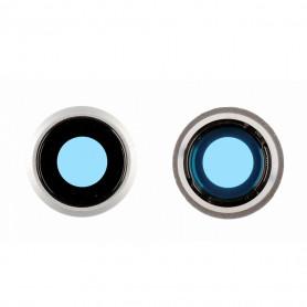 Contour / Vitre cache caméra arrière iPhone 8 Noir