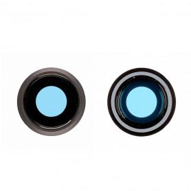 Contour / Vitre cache caméra arrière iPhone 8 Blanc