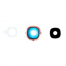 Vitre caméra arrière Samsung Galaxy S4 (i9505/i9500) Or Contour + Vitre cache
