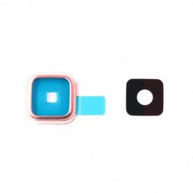 Vitre caméra arrière Samsung Galaxy S5 (G900F) Or Contour + Vitre cache