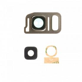 Vitre caméra arrière Samsung Galaxy Note7 (N930F) Or Contour + Vitre cache