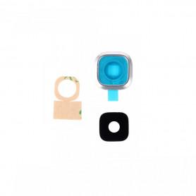 Vitre caméra arrière Samsung Galaxy A5 (A500FU) Blanc Contour + Vitre cache