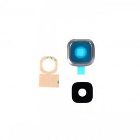 Vitre caméra arrière Samsung Galaxy A7 (A700F) Noir Contour + Vitre cache