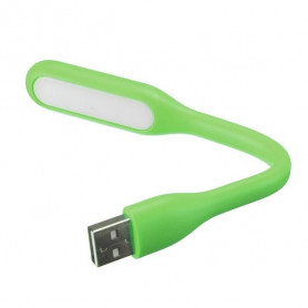 MINI Flexible USB LED Lampe Lecture Pr Clavier Ordinateur Portable PC Power Bank Vert