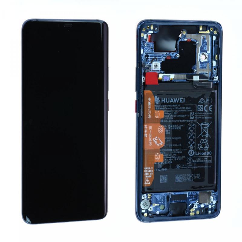Ecran complet Batterie Huawei Mate 20 Pro (LYA-L09) Bleu LCD+ Vitre Tactile Sur Chassis Original