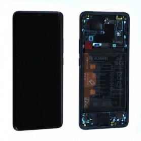 Ecran complet Batterie Huawei Mate 20 Pro (LYA-L09) Noir LCD+ Vitre Tactile Sur Chassis Original