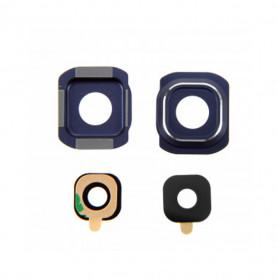 Vitre caméra arrière Samsung Galaxy S6 (G920F) Noir Contour + Vitre cache