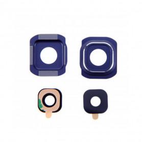 Vitre caméra arrière Samsung Galaxy S6 (G920F) Blue Contour + Vitre cache