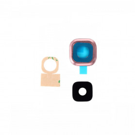 Vitre caméra arrière Samsung Galaxy A9 Pro 2016 (A910F) Rose Contour + Vitre cache