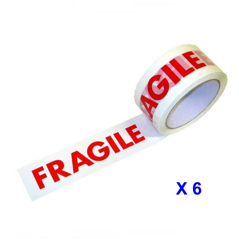 "RUBAN ADHESIF DE CONDITIONNEMENT "" FRAGILE "" 48 MM X 66 M"