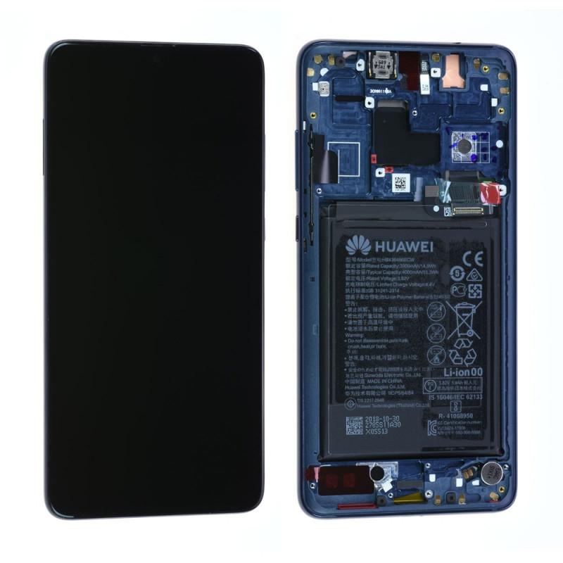 Ecran complet Batterie Huawei Mate 20 Bleu LCD+ Vitre Tactile Sur Chassis Original