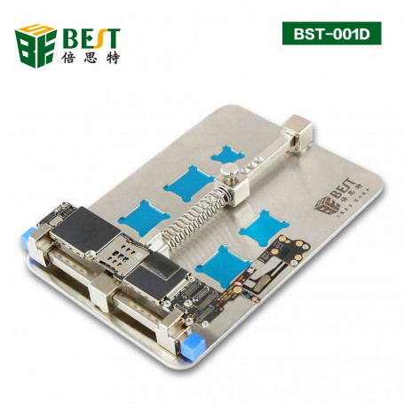 Base fixe en acier inoxydable pour carte mère de téléphone portable