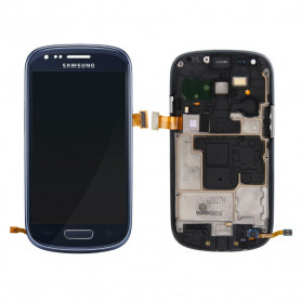 Ecran Samsung Galaxy S3 MIni (i8190) Noir LCD+Home Sur Chassis (Compatible)