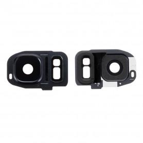 Vitre caméra arrière Samsung Galaxy S7 (G930F) Noir Contour + Vitre cache