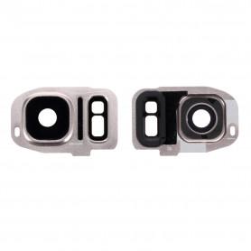 Vitre caméra arrière Samsung Galaxy S7 Edge (G935F) Or Contour + Vitre cache