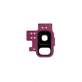 Vitre caméra arrière Samsung Galaxy S9 (G960F) Pourpre Contour + Vitre cache