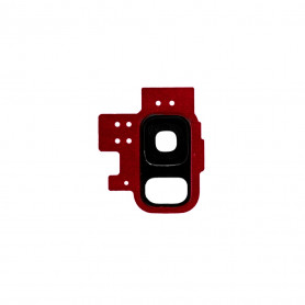 Vitre caméra arrière Samsung Galaxy S9 (G960F) Rouge Contour + Vitre cache
