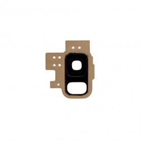 Vitre caméra arrière Samsung Galaxy S9 (G960F) Or Contour + Vitre cache