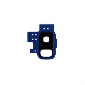 Vitre caméra arrière Samsung Galaxy S9 (G960F) Blue Contour + Vitre cache