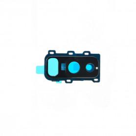 Vitre caméra arrière Samsung Galaxy A6 Plus 2018 (A605F) Noir Contour + Vitre cache