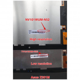 Écran NV101WUM-N52 Asus ZenPad 10 (Z301M) Noir