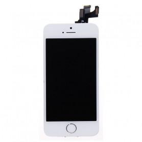 Ecran Complet iPhone 5S/SE Blanc Prémonté avec Caméra avant + Ecouteur Interne + Bouton Home (Prémonté)