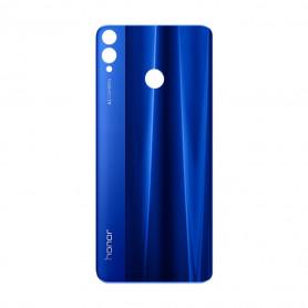 Vitre arrière Honor 8X Noir/Bleu/ - Avec Logo + Adhesif