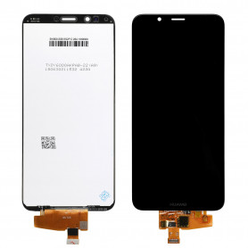 Écran Huawei Y7 2018 Noir LCD + Vitre Tactile Sur Chassis
