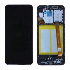 Écran Samsung Galaxy A20e (A202F) Noir Sur Châssis (Service Pack)
